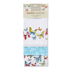 Cooksmart Butterflies Tea Towel, Set of 3
