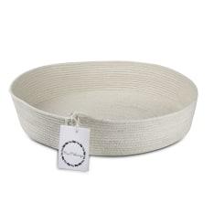Mia Melange Ivory Table Basket