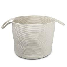 Mia Melange Ivory Floor Basket