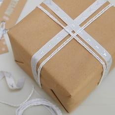 Ginger Ray Christmas Metallics Ribbon Rolls, Set of 2