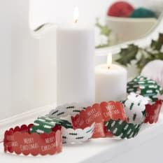 Ginger Ray Christmas Patterned Paper Chains, 10 Meters