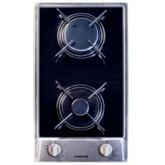 Faber Built-In Domino 2 Burner Gas Hob with Enamel Burners, 30cm