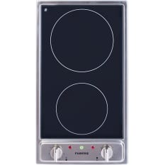 Faber Built-In Domino 2 Plate Ceramic Electric Hob, 30cm
