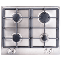 Faber Built-In 4 Burner Gas Hob with Cast Iron Burners, 60cm