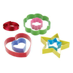 Kitchen Craft Mini Stained Glass Window Cookie Cutters, Set of 6