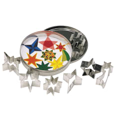 KitchenCraft Mini Star Shaped Metal Cookie Cutters, Set of 7
