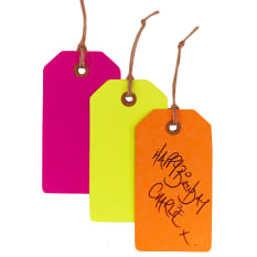 Ginger Ray Neon Birthday Gift Tags, Pack of 12