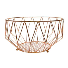 Regent Copper Plated Basket