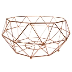 Regent Copper Plated Geometric Basket