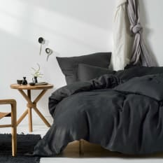 Linen House Nimes Charcoal Duvet Cover Set