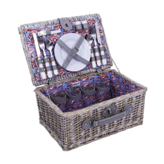 Avanti Flamingo Willow Picnic Basket