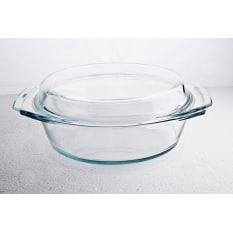 Simax Round Casserole Dish with Lid