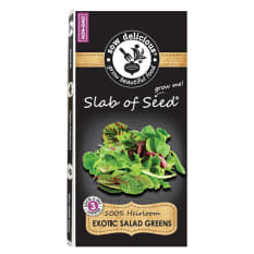 Sow Delicious Exotic Slab of Seed Salad Greens