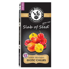 Sow Delicious Exotic Slab of Seed Chillies Habaneros