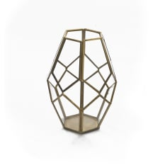 Sarah Jane Brass Finish Lantern