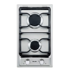 Elba Built-In Domino 2 Burner Gas on Stainless Steel Hob