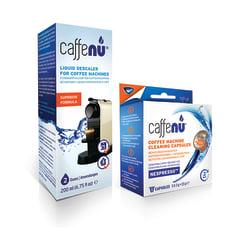 Caffenu Cleaning Capsules & Liquid Descaler Combo