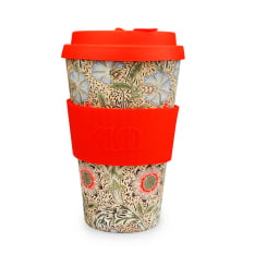 ECoffee Cup William Morris Bamboo Travel Mug, 400ml