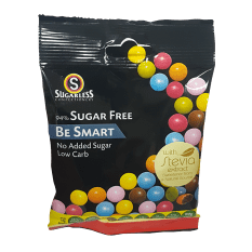 Sugarless Confectionery Be Smart Candy Coated Chocolate Beans, 90g