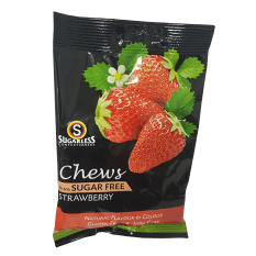 Sugarless Confectionery Strawberry Chews, 70g