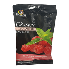 Sugarless Confectionery Raspberry Chews, 70g