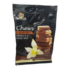 Sugarless Confectionery Vanilla & Chocolate Chews, 70g