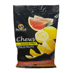Sugarless Confectionery Citrus Fruit Chews, 70g
