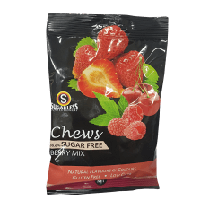 Sugarless Confectionery Mixed Berry Chews, 70g