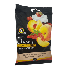 Sugarless Confectionery Fruit & Cream Chews, 70g