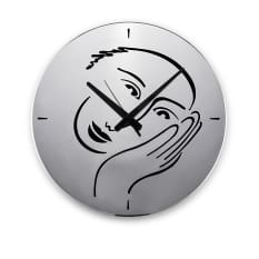 Carrol Boyes Let's Face It! Wall Clock