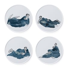 Carrol Boyes Indigo Girls Side Plates, Set of 4