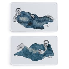 Carrol Boyes Indigo Girls Rectangular Platters, Set of 2