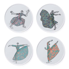 Carrol Boyes Dancer Side Plates, Set of 4