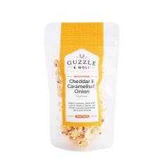 Guzzle & Wolf Cheddar & Caramelised Onion Gourmet Popcorn