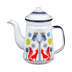Wild & Wolf Folklore Enamel Day Coffee Pot, 950ml