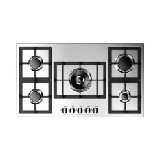 Faber Largo Built-In Stainless Steel 5 Burner Gas Hob, 90cm