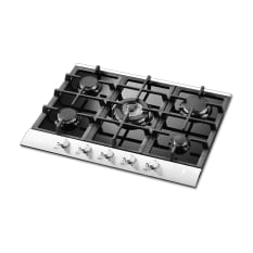 Faber Built-In Stainless Steel and Glass 5 Burner Gas Hob, 60-70cm