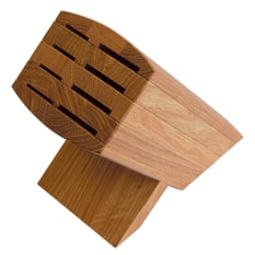 Wasabi Oak 8 Hole Knife Block