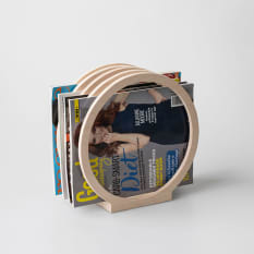 Native Decor Round Magazine Rack