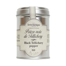 Terre Exotique Indian Black Tellichery Peppercorns, 70g