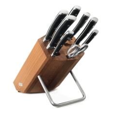 Wusthof Classic Ikon 8 Piece Knife Block Set in Thermo Beech Wood