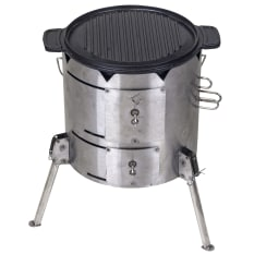 PotjieKing Cooker, Double Sided Griddle & Carry Bag