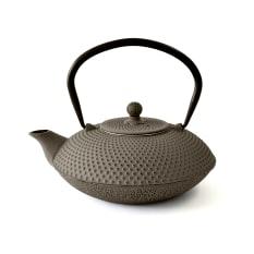 Eetrite Cast Iron Flat Round Tetsubin Teapot, 800ml