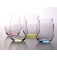 Riedel Happy O Stemless Glass Tumblers, Set of 4