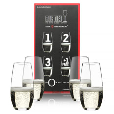 Riedel O Stemless Champagne Glasses, Set of 4 (Only Pay for 3)