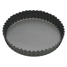MasterClass Non-Stick Fluted Loose Base Round Quiche Tin