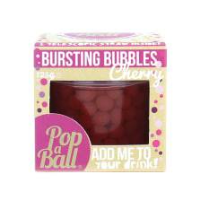 Popaball Cherry Fruit Juice Bubbles, 125g