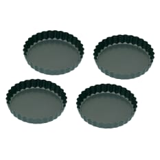 KitchenCraft Non-Stick Mini Fluted Tins, Set of 4