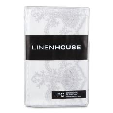 Linen House Pearl Continental Pillowcase, 80cm x 80cm