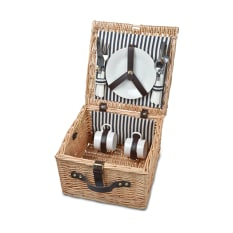 Eco Wicky Wicker Couple's Picnic Basket
